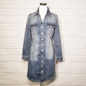 INC International Concepts Denim Embroidered Dress